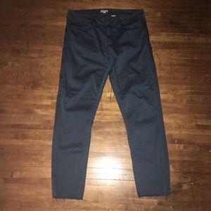 J Crew raw edge cropped slacks